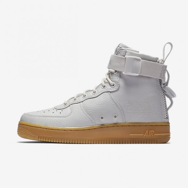 Nike Sf Air Force 1 Mid Boots Damen Grau Hellbraun...