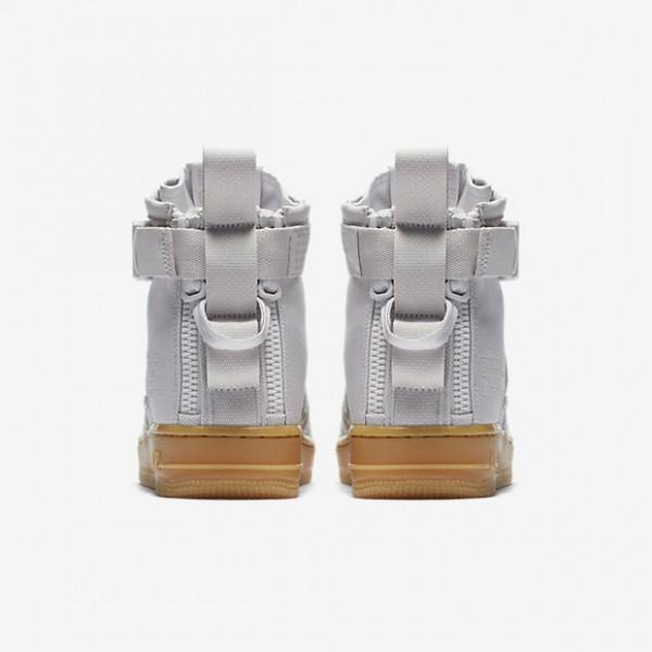 Nike Sf Air Force 1 Mid Boots Damen Grau Hellbraun 623-74780