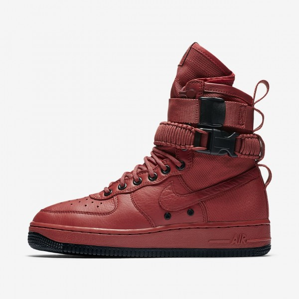 Nike Sf Air Force 1 Boots Damen Rot Schwarz 542-81...