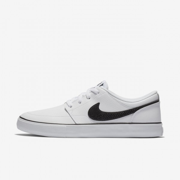 Nike Sb Portmore II Skaterschuhe Damen Weiß Schwa...