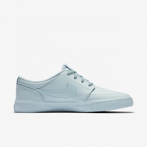 Nike Sb Portmore II Skaterschuhe Damen Blau 775-66069