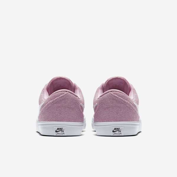 Nike Sb Check Solar Skaterschuhe Damen Pink Schwarz Weiß 966-11076