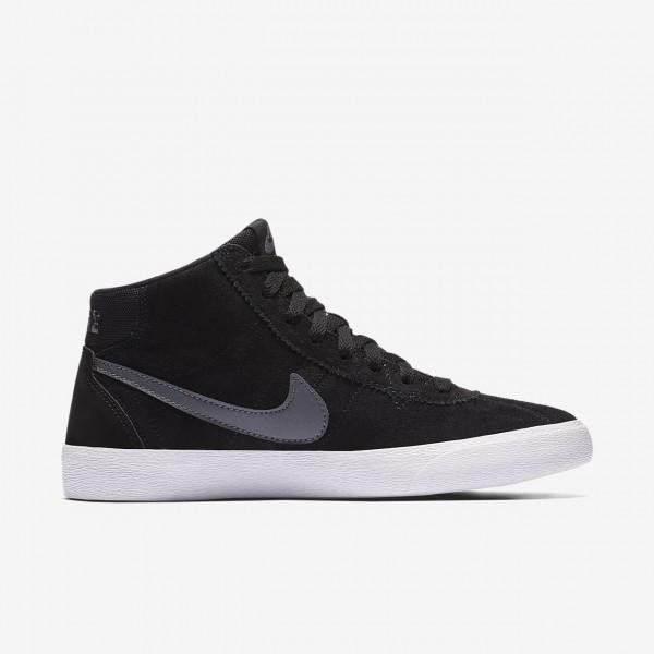 Nike Sb Bruin high Skaterschuhe Damen Schwarz Weiß Dunkelgrau 850-90601