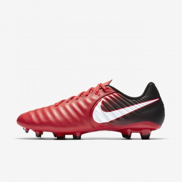 Nike Tiempo Ligera Iv Fg Fußballschuhe Damen Schwarz Rot Weiß 408-42592