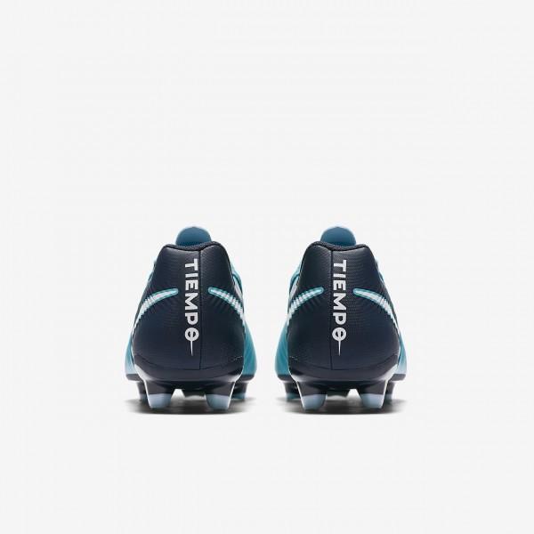 Nike Tiempo Ligera Iv Fg Fußballschuhe Damen Blau Obsidian Weiß 117-74851