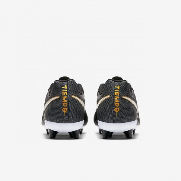 Nike Tiempo Ligera Iv Ag-pro Fußballschuhe Damen Schwarz Weiß 399-13716