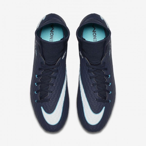 Nike Hypervenom Phelon III Dynamic Fit Fg Fußballschuhe Herren Obsidian Blau Weiß 489-75711