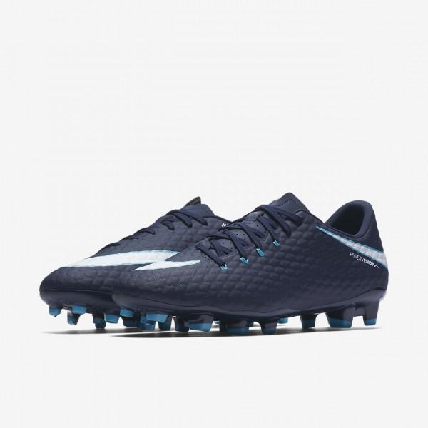 Nike Hypervenom Phelon 3 Fg Fußballschuhe Herren Obsidian Blau Weiß 979-15465