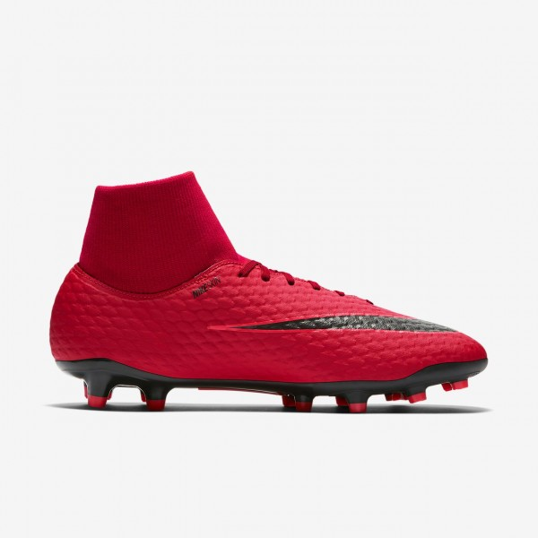 Nike Hypervenom Phelon III Dynamic Fit Fg Fußballschuhe Herren Rot Schwarz 829-96834