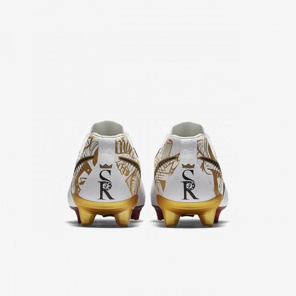 Nike Tiempo Legend Vii Se Sergio Ramos Fg Fußballschuhe Damen Weiß Metallic Gold 382-64130