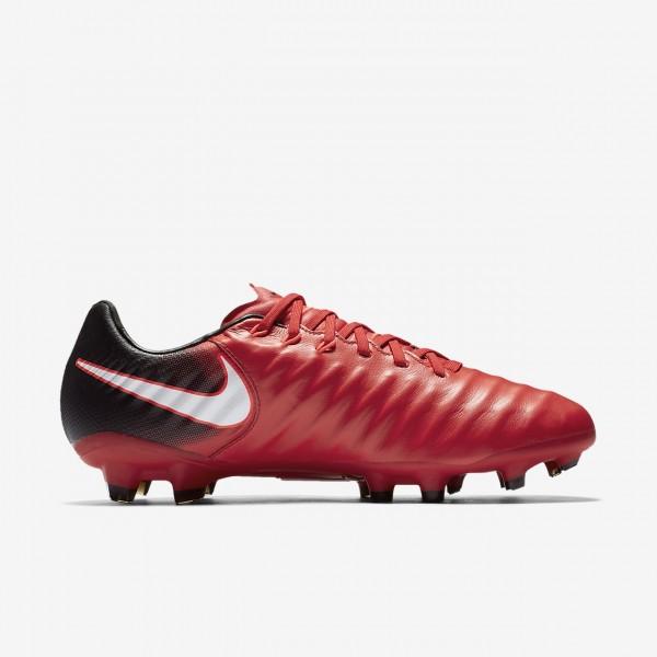 Nike Tiempo Legacy III Fg Fußballschuhe Damen Schwarz Rot Weiß 898-10696