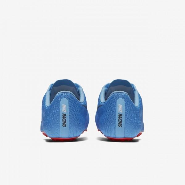 Nike Superfly Elite Spike Schuhe Damen Blau Rot 531-16113