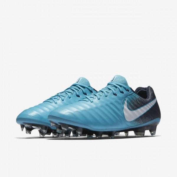 Nike Tiempo Legend Vii Fg Fußballschuhe Damen Blau Obsidian Weiß 159-70677