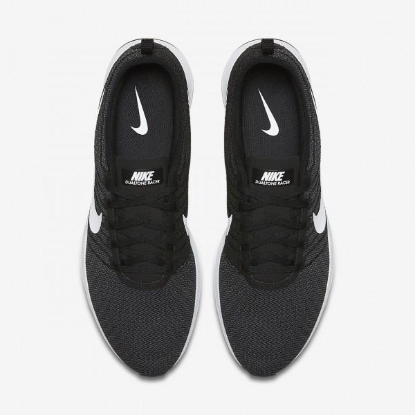 Nike Dualtone Racer Freizeitschuhe Herren Schwarz Dunkelgrau Weiß 621-12113