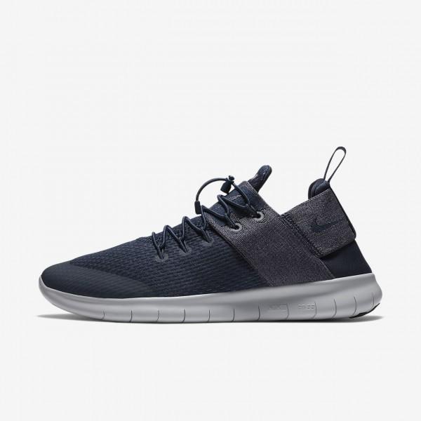 Nike Free Rn Commuter 2017 Laufschuhe Herren Obsidian Weiß Grau 175-31563
