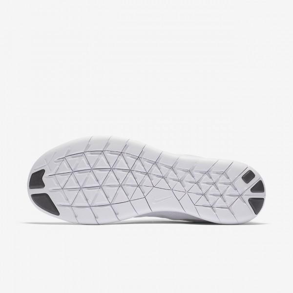 Nike Free Rn 2017 Laufschuhe Herren Weiß Schwarz Platin 939-81414