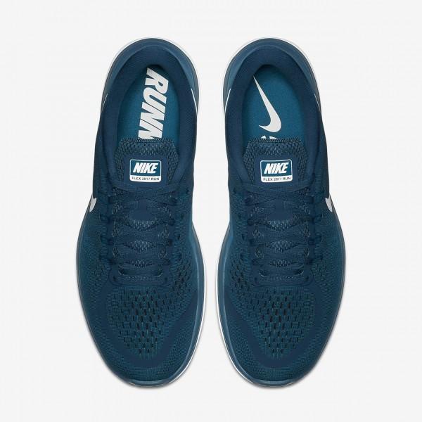 Nike Flex 2017 Rn Laufschuhe Herren Blau Grün Schwarz Weiß 761-52307