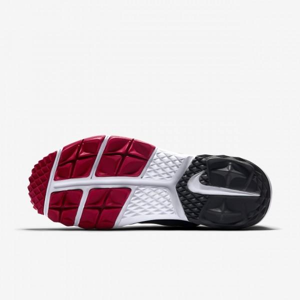 Nike Fi Impact 2 Golfschuhe Herren Schwarz Rot Dunkelgrau 563-47223