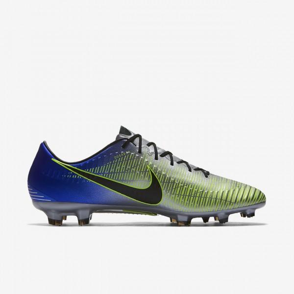 Nike Mercurial Veloce III Neymar Fg Fußballschuhe Damen Blau Silber Grün Schwarz 289-34779