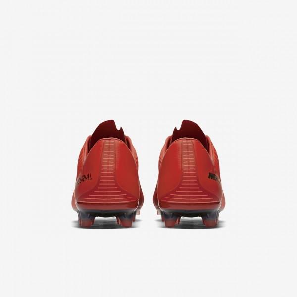 Nike Mercurial Veloce III Fg Fußballschuhe Damen Rot Schwarz 512-68893