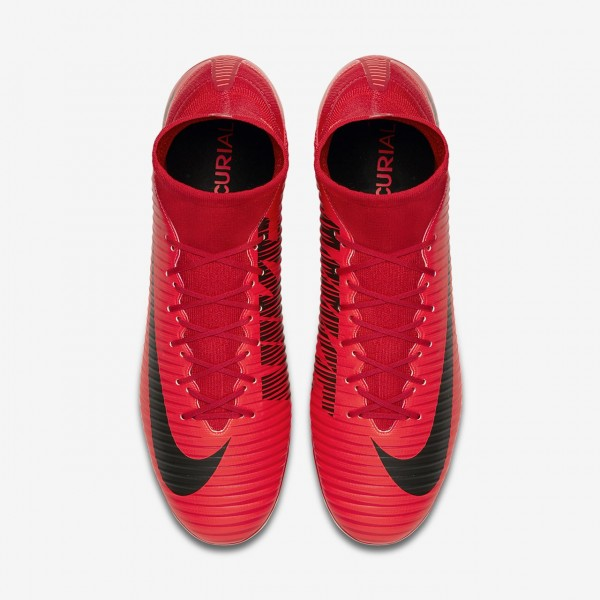 Nike Mercurial Veloce III Dynamic Fit Ag-pro Fußballschuhe Damen Rot Schwarz 672-53041