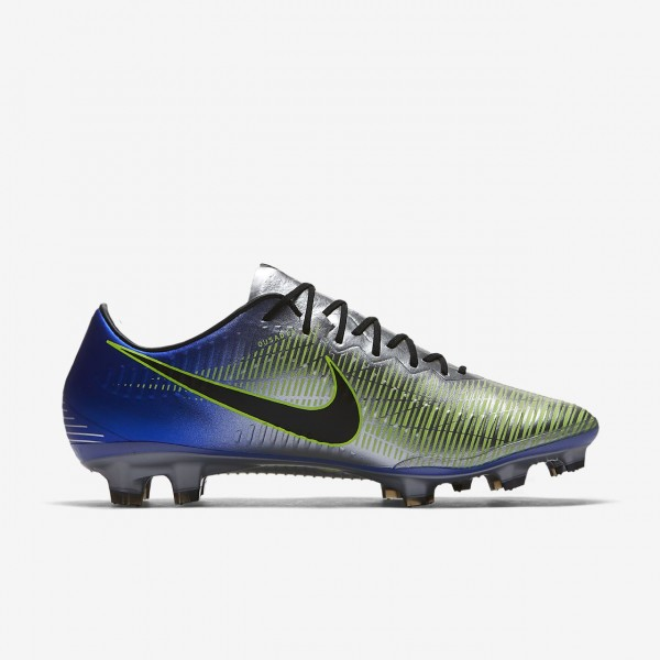 Nike Mercurial Vapor XI Neymar Fg Fußballschuhe Damen Blau Silber Grün Schwarz 401-69483