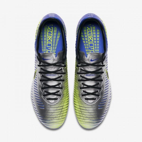 Nike Mercurial Vapor XI Neymar Ag-pro Fußballschuhe Damen Blau Silber Grün Schwarz 416-91890