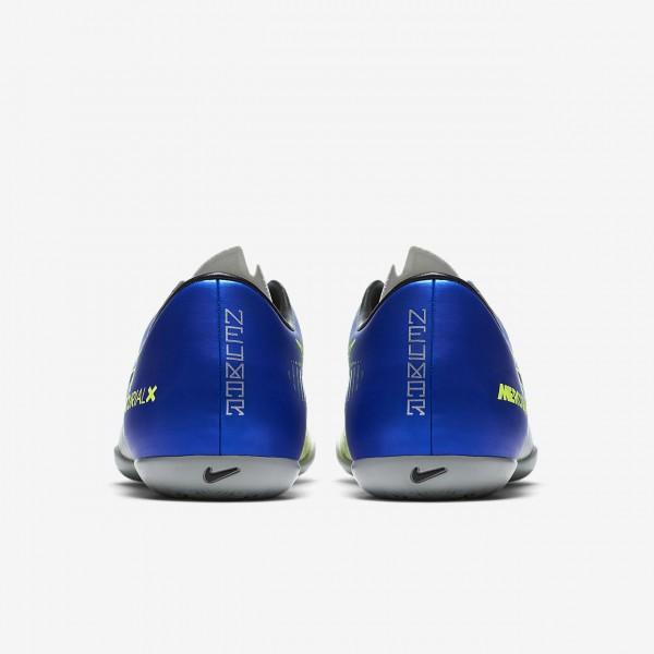 Nike Mercurialx Victory VI Neymar Ic Fußballschuhe Damen Blau Silber Grün Schwarz 555-27108