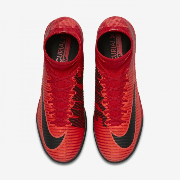Nike Mercurialx Proximo II Ic Fußballschuhe Damen Rot Schwarz 627-28880