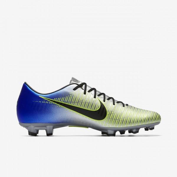 Nike Mercurial Victory VI Neymar Fg Fußballschuhe Damen Blau Silber Grün Schwarz 744-37623