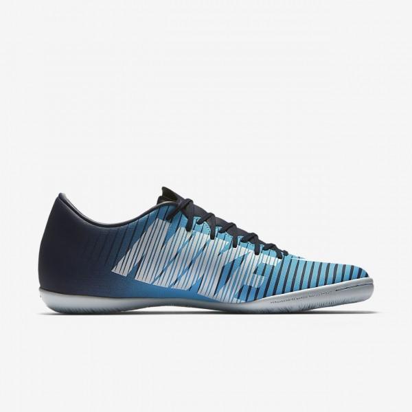 Nike Mercurial Victory VI Ic Fußballschuhe Damen Obsidian Blau Weiß 597-52108