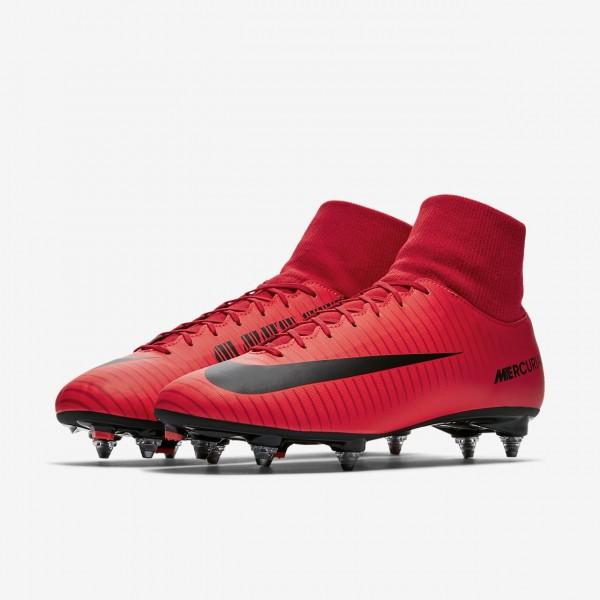 Nike Mercurial Victory VI Dynamic Fit Sg Fußballschuhe Damen Rot Schwarz 958-63939