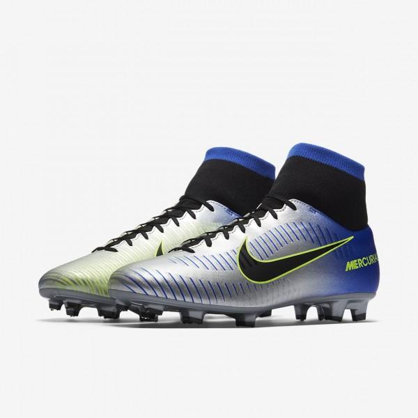 Nike Mercurial Victory VI Dynamic Fit Neymar Fg Fußballschuhe Damen Blau Silber Grün Schwarz 980-904
