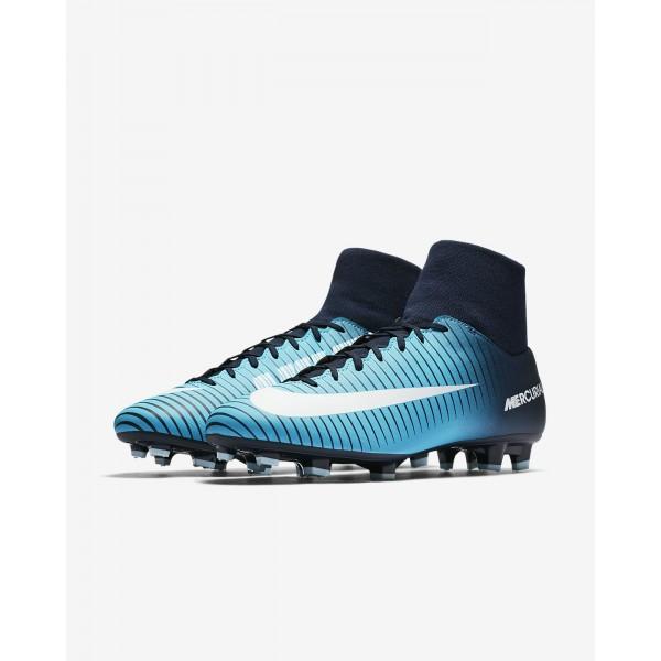 Nike Mercurial Victory VI Dynamic Fit Fg Fußballschuhe Damen Obsidian Blau Weiß 869-75651