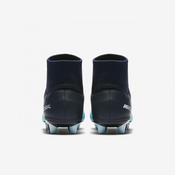 Nike Mercurial Victory VI Dynamic Fit Ag-pro Fußballschuhe Damen Blau Weiß 265-18499