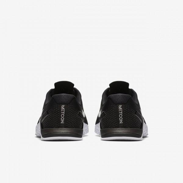 Nike Metcon 4 Trainingsschuhe Damen Schwarz Weiß Grün Metallic Silber 972-96598