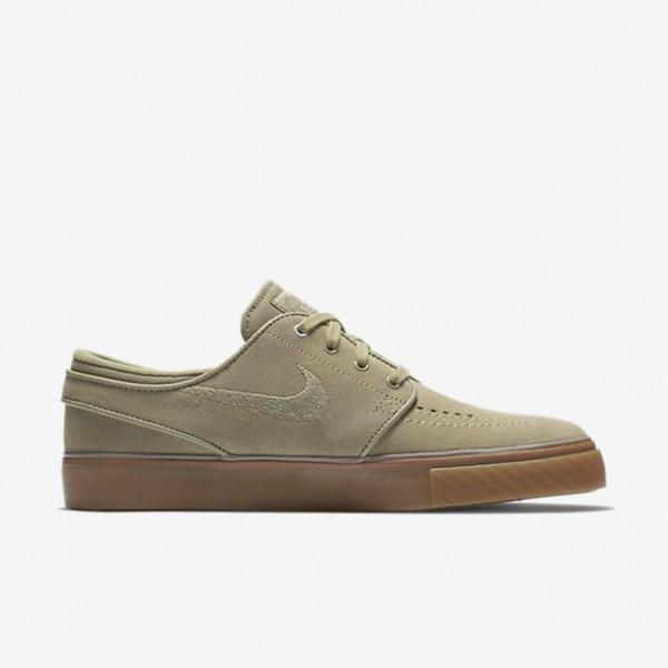 Nike Sb Air Zoom Stefan Janoski Skaterschuhe Damen Olive Platin Dunkelbraun 111-51111