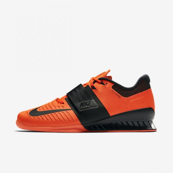 Nike Romaleos 3 Gewichtheberschuhe Damen Rot Schwarz 830-31797