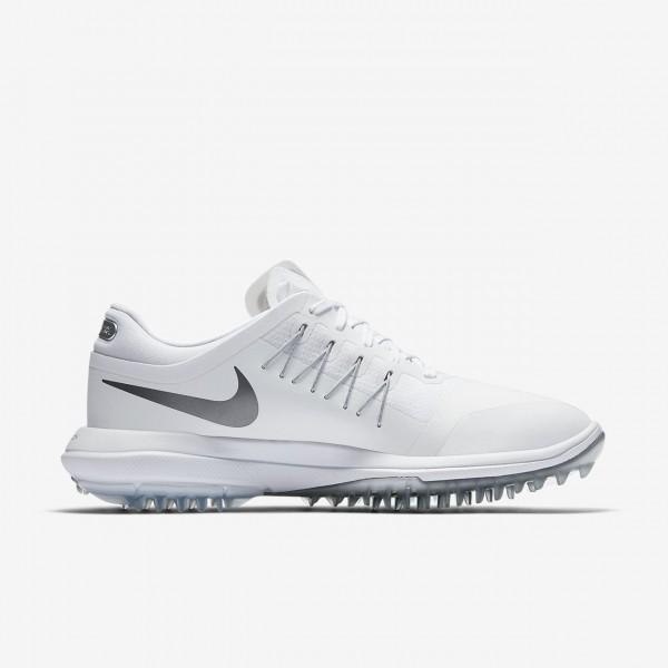 Nike Lunar Control Vapor Golfschuhe Damen Weiß Metallic Silber 112-29649