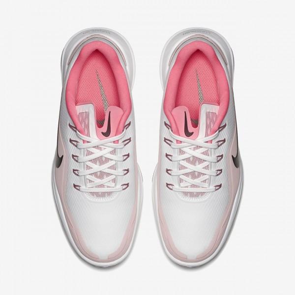 Nike Lunar Control Vapor 2 Golfschuhe Damen Weiß Pink Metallic Grau 154-38298