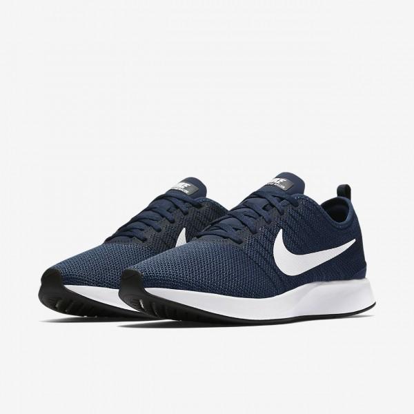 Nike Dualtone Racer Freizeitschuhe Herren Navy Blau Schwarz Weiß 534-85828