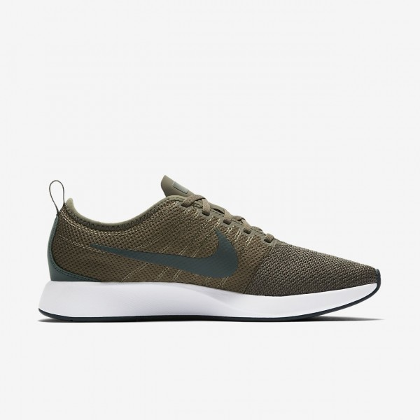 Nike Dualtone Racer Freizeitschuhe Herren Olive Weiß Grün 910-88754