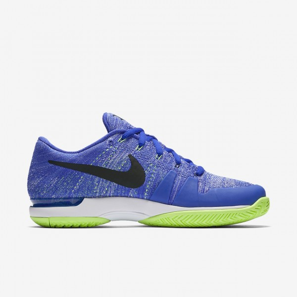 Nike Court Zoom Vapor Flyknit Hard Court Qs Tennisschuhe Herren Blau Grün Weiß Schwarz 462-78593