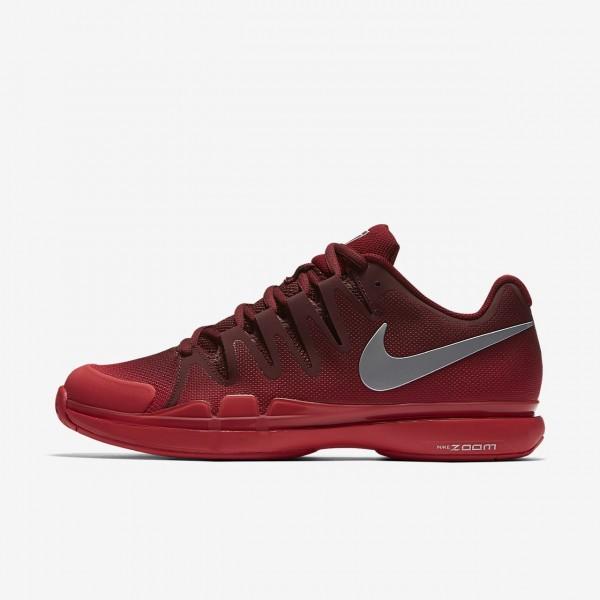 Nike Court Zoom Vapor 9 5 Tour Tennisschuhe Herren Rot Metallic Silber 621-45575