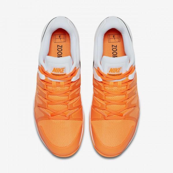 Nike Court Zoom Vapor 9 5 Tour Tennisschuhe Herren Orange Weiß Schwarz 822-31187