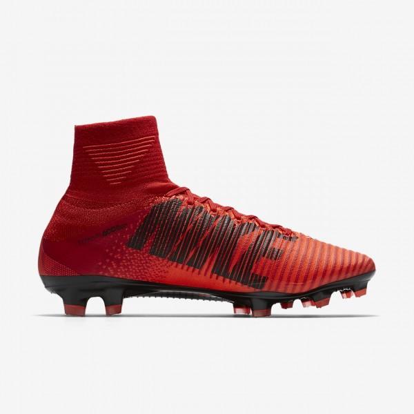 Nike Mercurial Superfly V Fg Fußballschuhe Damen Rot Schwarz 715-22023