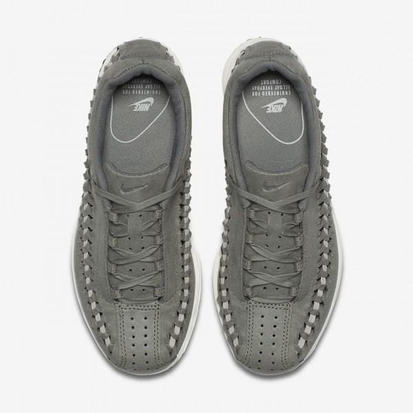 Nike Mayfly Woven Freizeitschuhe Damen Dunkelolive Weiß 699-22608