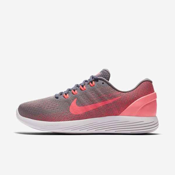 Nike Lunarglide 9 Laufschuhe Damen Weiß Rosa Grau...