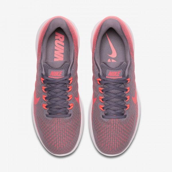 Nike Lunarglide 9 Laufschuhe Damen Weiß Rosa Grau Rot 204-78258