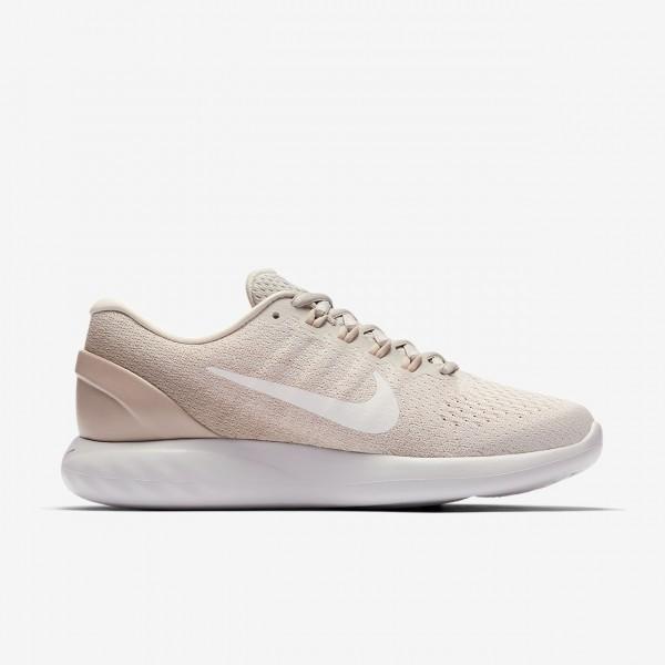 Nike Lunarglide 9 Laufschuhe Damen Sand Grau Weiß 717-12398